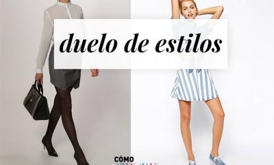 Looks con minifalda - duelo de estilos