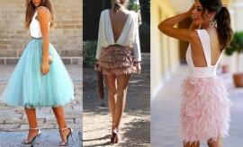 Looks de invitadas con falda