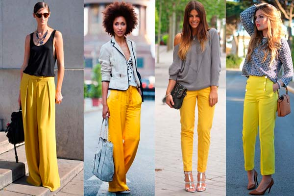 Looks con Pantone Minion Yellow