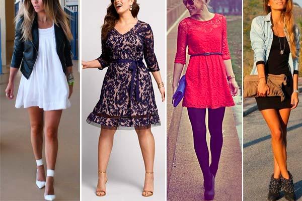 Looks con vestidos de fiesta
