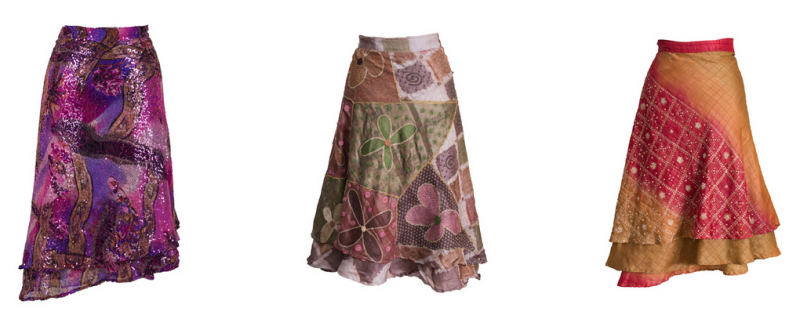 Solomana silk skirts