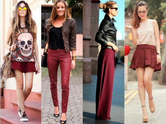 Looks con color marsala
