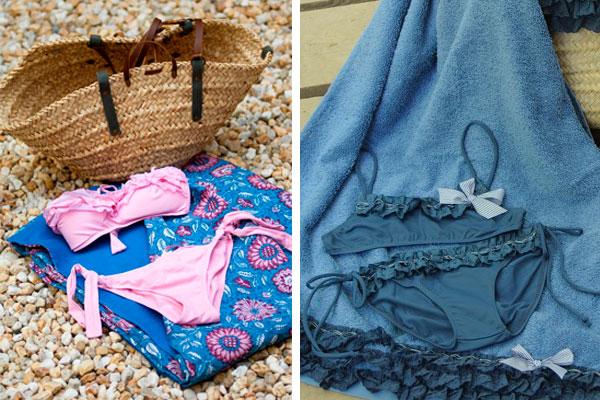 combinar toallas y bikinis
