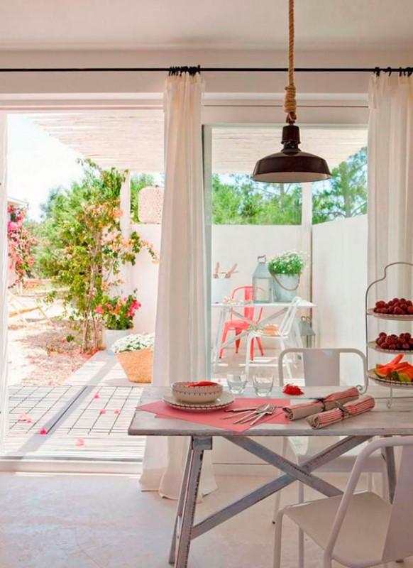 Colores claros en la decoración de verano