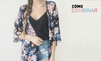 Combinar prendas con estampado de flores