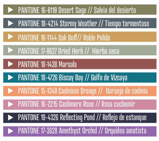 Colores de temporada - otoño 2015