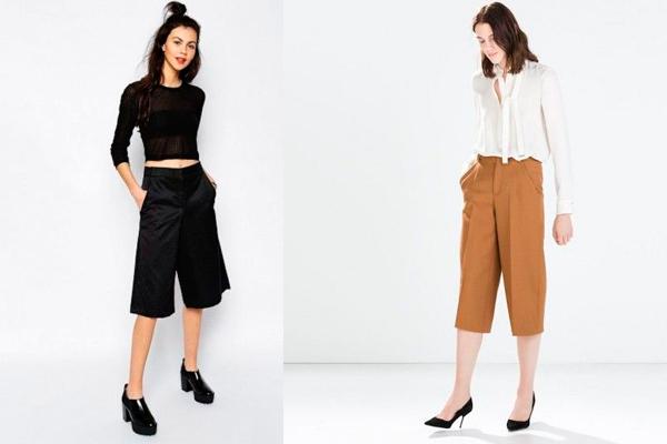 Looks con los pantalone anchos de moda