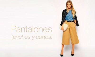 pantalones anchos y cortos