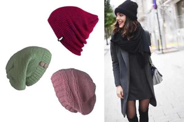 combinar gorros de lana