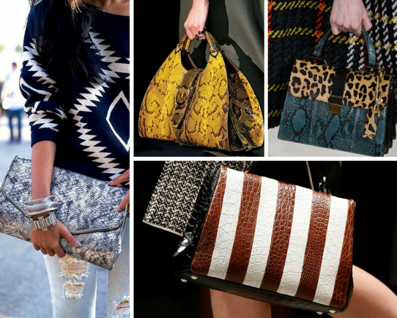 Tendencias en bolsos animal print