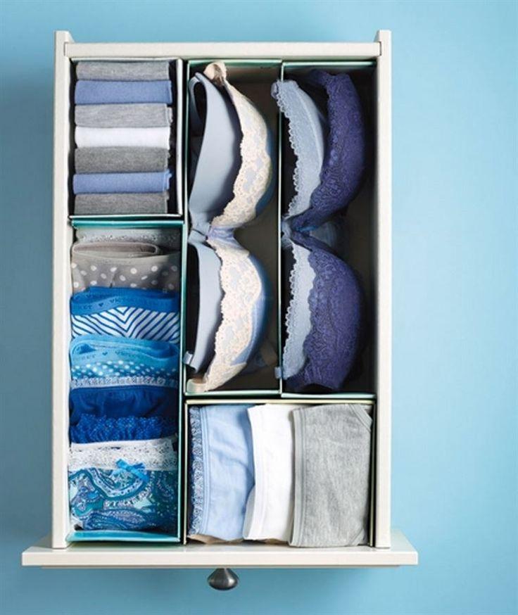 recicla cajas de zapatos para la ropa íntima