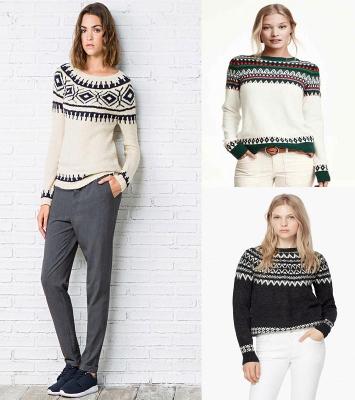 pantalones y jersey alpino
