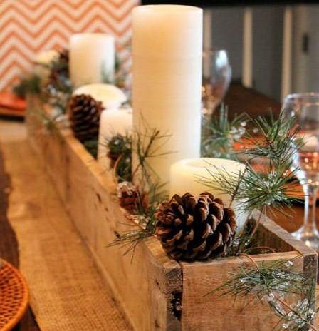 mesa de Navidad-rúsitco