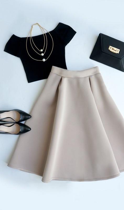 مدل لباس نیم تنه دامن Cómo combinar tu falda midi