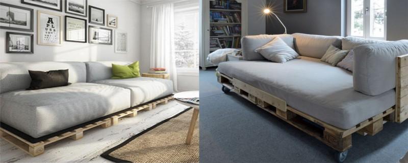 sofás con palets