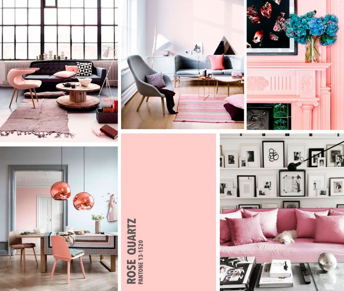 Decorar con los colores de moda 2016 rosa cuarzo y serenity for Tendencia en decoracion de interiores 2016