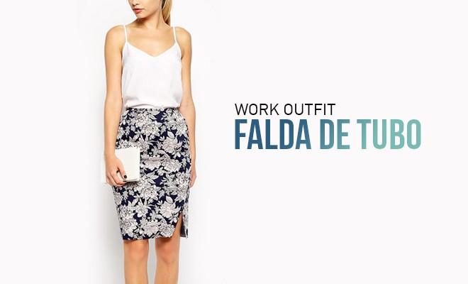 139441155 Work outfit: la falda de tubo
