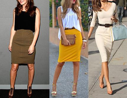 falda de tubo lisa