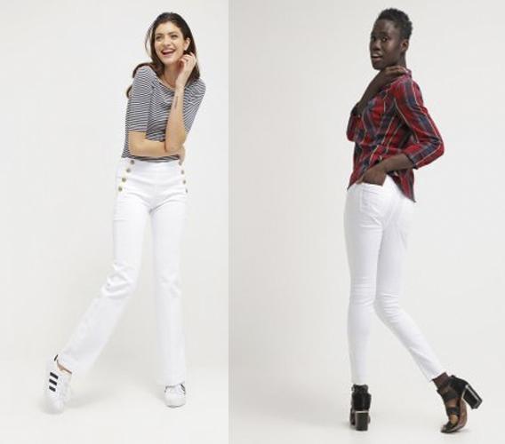 jeans blancos