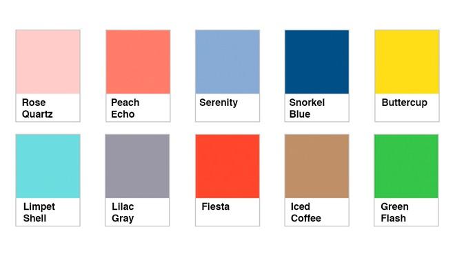 Los colores de moda para la primavera for Colores de pintura de moda