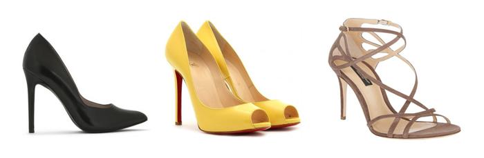 cómo combinar zapatos de tacón