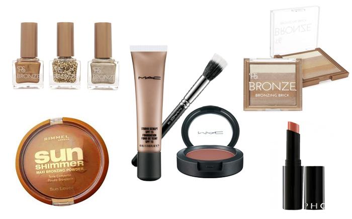 look de maquillaje bronce