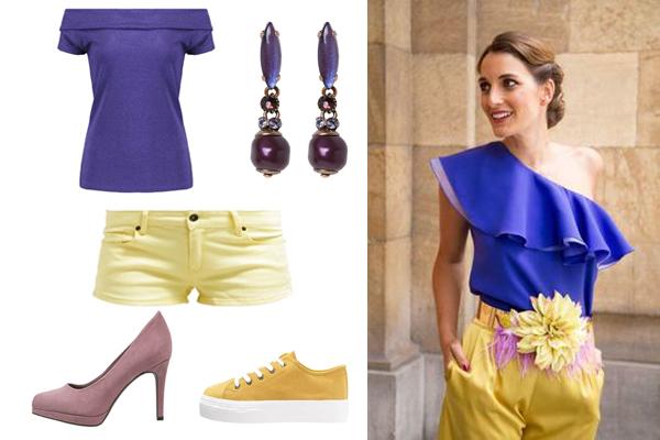 cómo combinar el color violeta en tu ropa
