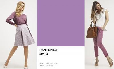 cómo combinar el color violeta