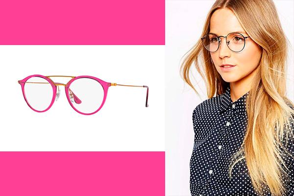 gafas nerd con monturas redondas