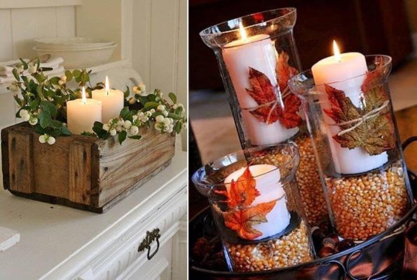 Velas para decorar en otoño