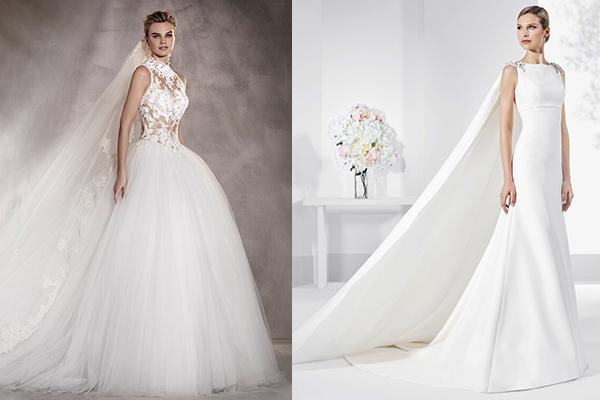 los velos y las capas que veremos en los vestidos de novia 2017