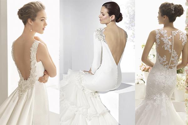vestidos de novia 2017 con escote en la espalda