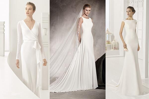 vestidos sencillos de novia 2017
