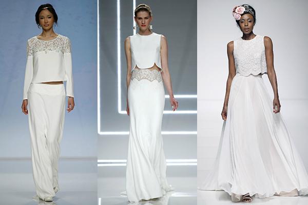 tendencia crop-top para los vestidos de novia 2017