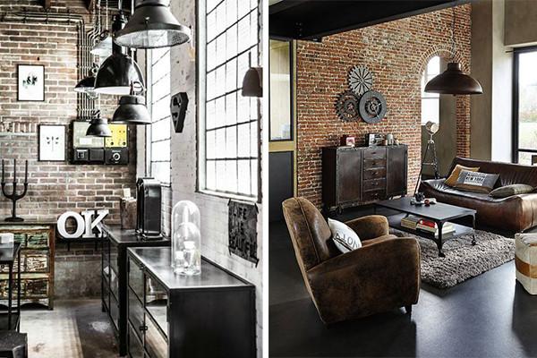 Decoracion Industrial Paredes ~ decoraci?n industrial con pared de ladrillos