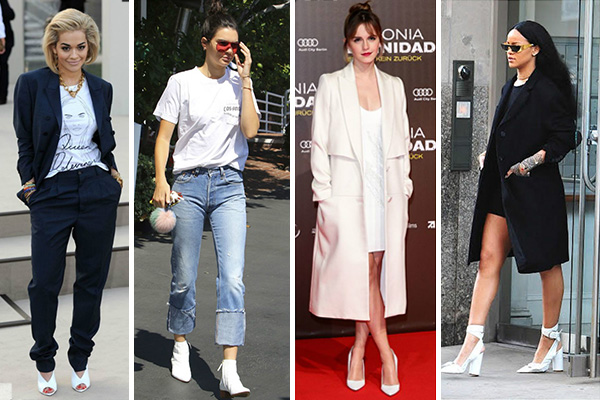 Celebrities luciendo zapatos blancos