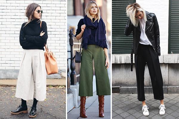 Looks con culotte para el invierno
