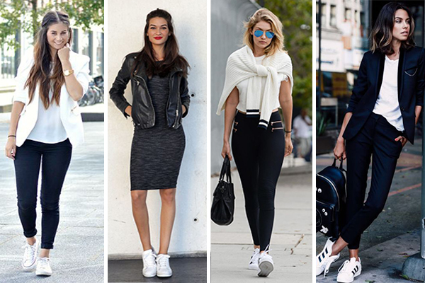 looks con zapatillas blancas