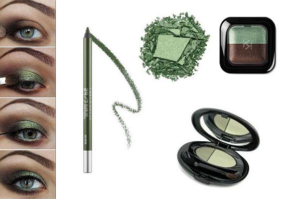 maquillaje del color del año 2017 verde greenery