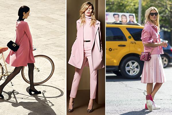 combinar un look total rosa