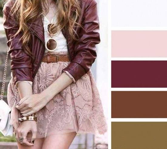 cómo combinar el color rosa con tonos marrones