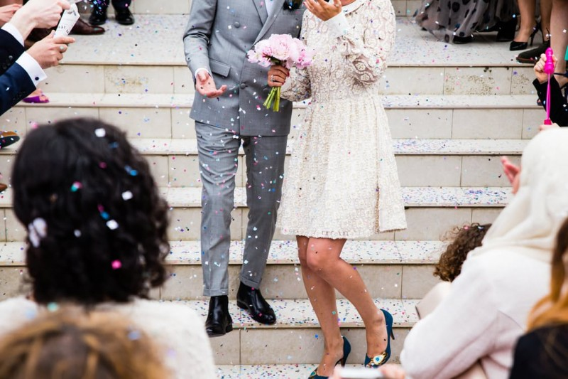 detalles de boda confeti
