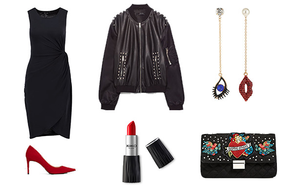 look rockero little black dress para nochevieja