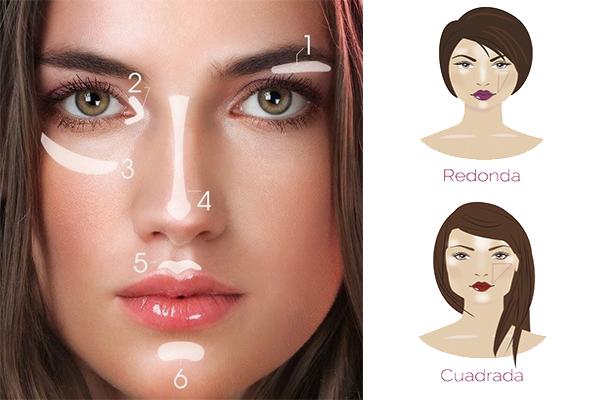 Uso del iluminador para el no makeup