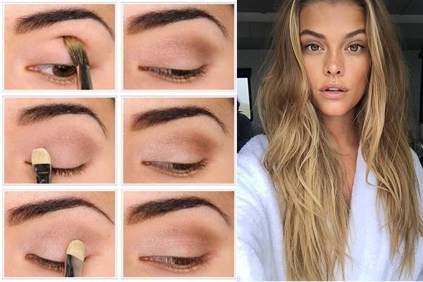 Maquillar los ojos para el no makeup