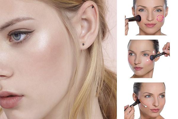 Uso del rubor para el no makeup
