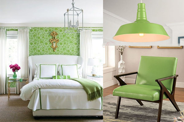 detalles en color verde greenery