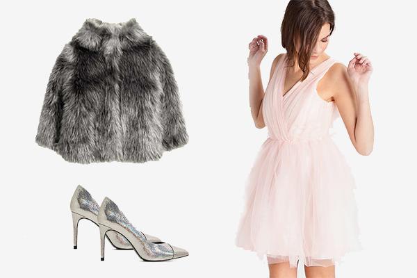 Vestido de nochevieja de tul rosa