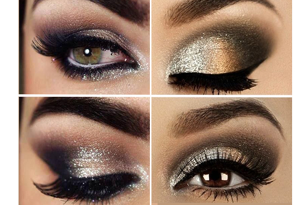 Ojos ahumados con tonos metalizados