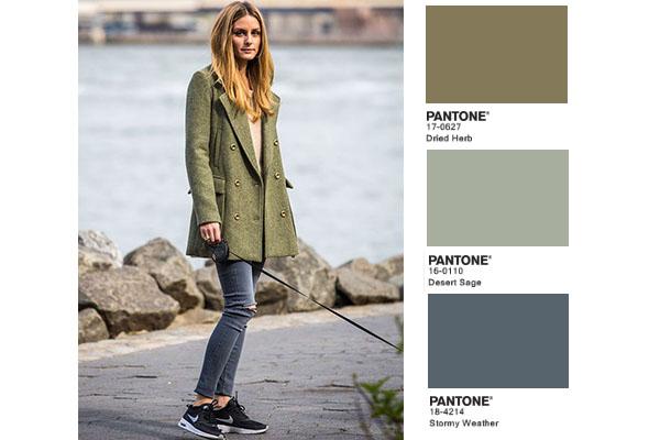 combinar el color verde militar